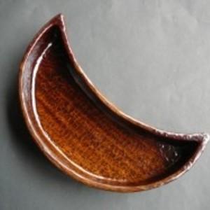 織部鉢(月)