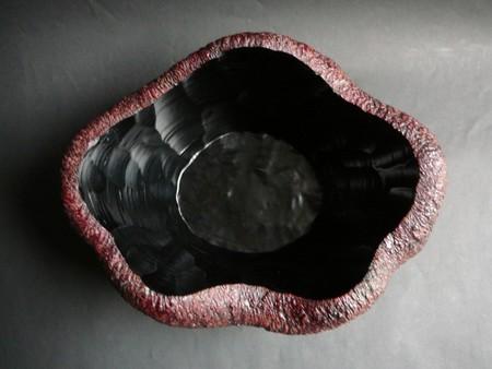 石肌花型鉢