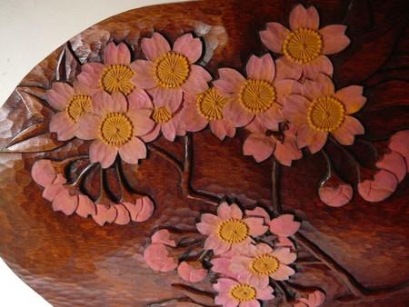 桜文飾り額